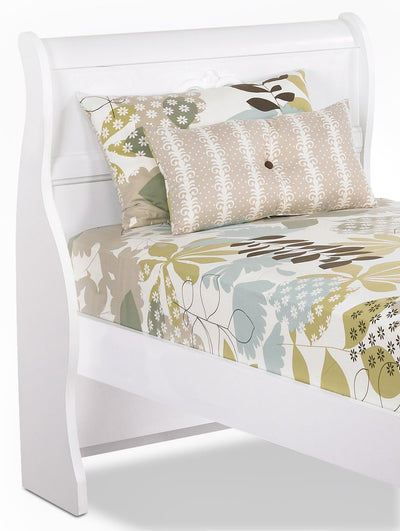 Diamond Dreams Twin Sleigh Headboard – White|Tête de lit-bateau Diamond Dreams pour lit simple – blanc|422-551