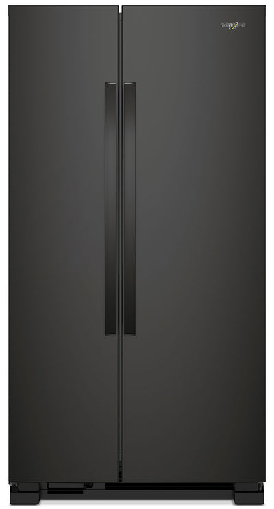 Whirlpool 22 Cu. Ft. Side-by-Side Refrigerator – WRS312SNHB - Refrigerator in Black
