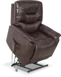 Parker Genuine Leather Power Lifting Recliner – Brown