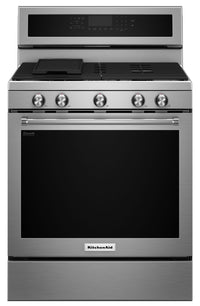 KitchenAid 5.8 Cu. Ft. Five-Burner Gas Convection Range - Stainless Steel