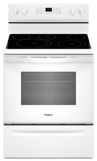 Whirlpool® 5.3 Cu. Ft. Freestanding Electric Range with Fan Convection Cooking - Electric Range in White