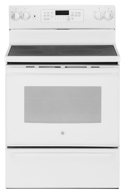 GE 5.0 Cu. Ft. Freestanding Electric Range – JCB830DKWW - Electric Range in White