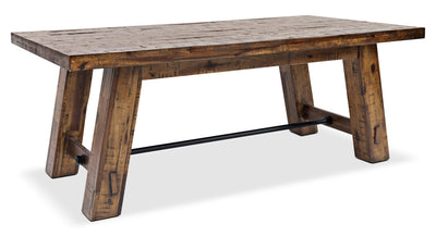 Galveston Coffee Table with Hidden Casters - Rustic style Coffee Table in Rustic Brown Acacia Solids and Veneers