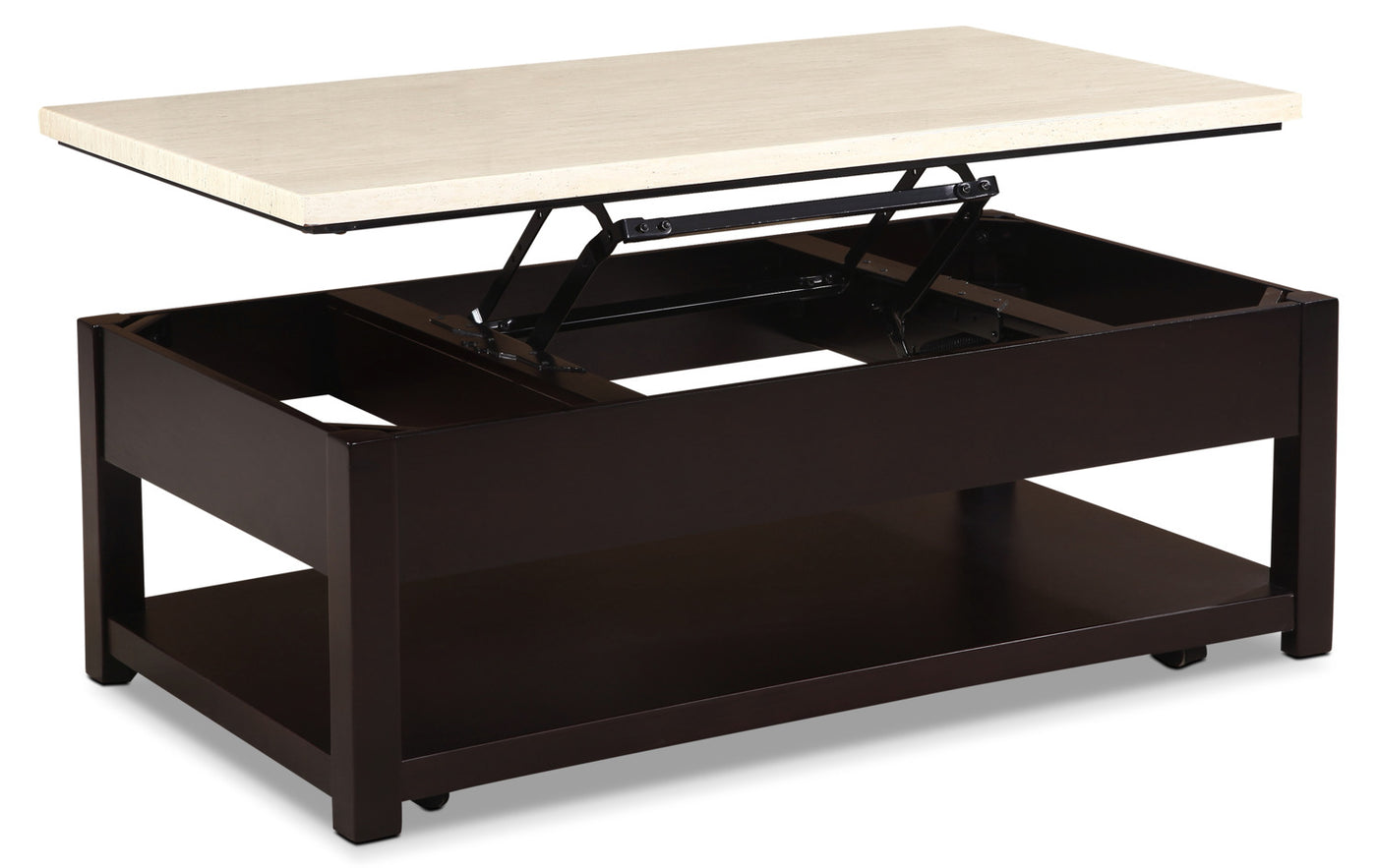 Sicily Coffee Table With Lift Top And Casters Beige The Brick [ 883 x 1400 Pixel ]