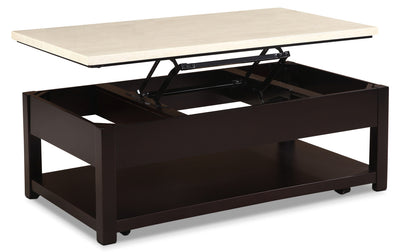 Sicily Coffee Table with Lift-Top and Casters – Beige - Contemporary style Coffee Table in Black Wood