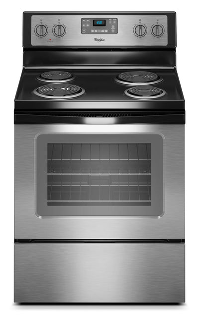Whirlpool 4.8 Cu. Ft. Electric Range with AccuBake® System - Stainless Steel|Cuisinière électrique Whirlpool de 4,8 pi³ avec système AccuBake(MD) - acier inoxydable|YWFC310S