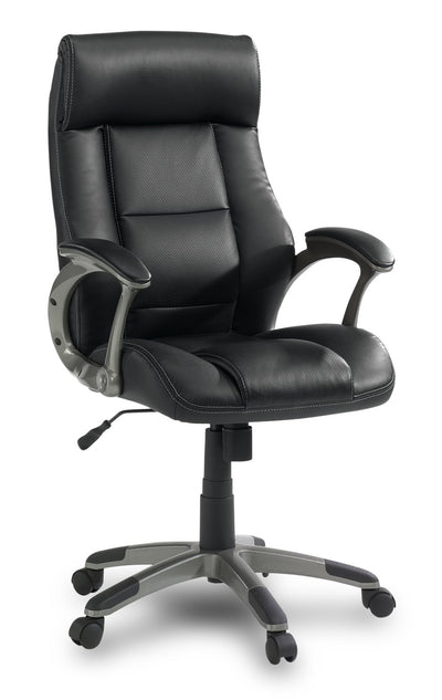 Vegas Bonded-Leather Manager Chair|Fauteuil direction Vegas en cuir contrecollé|VEG45CHR