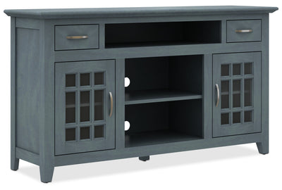 "Burke 59"" TV Stand - Country style TV Stand in Antique Blue Medium Density Fiberboard"