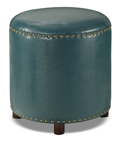 Chilton Ottoman – Teal - Industrial style Ottoman in Teal