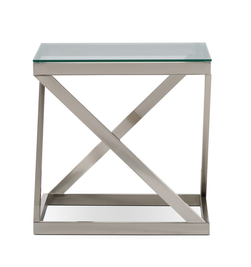 Coylin End Table - Modern style End Table Glass/Metal