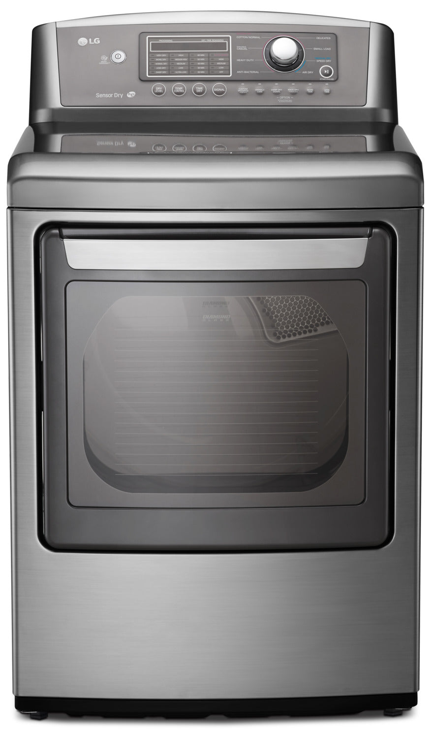 LG 7 3 Cu  Ft  Electric Dryer with Sensor Dry and SmartDiagnosis™ -  Graphite Steel