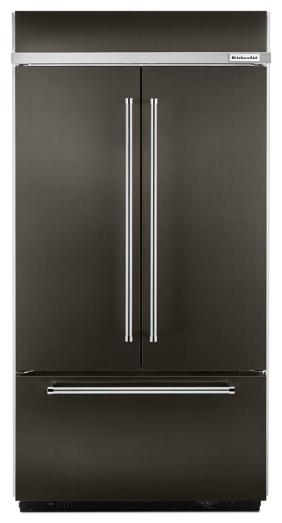 KitchenAid 24.2 Cu. Ft. Built-In French-Door Refrigerator – KBFN502EBS - Refrigerator in Black