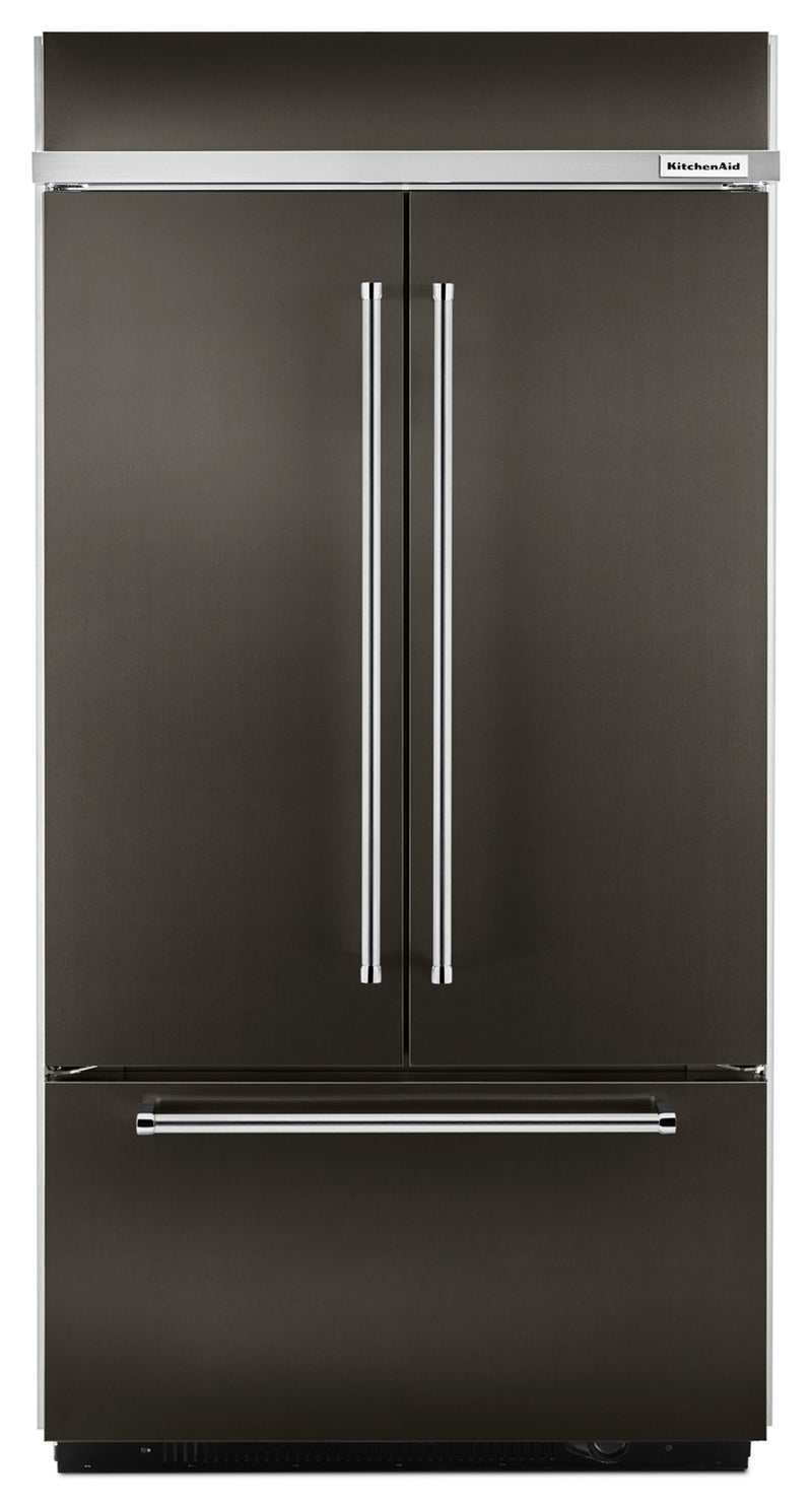 KitchenAid 24.2 Cu. Ft. Built-In French-Door Refrigerator – KBFN502EBS|Réfrigérateur encastré KitchenAid de 24,2 pi³ à portes françaises – KBFN502EBS|KBFN502B