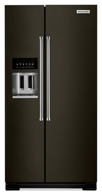 KitchenAid 22.7 Cu. Ft. Counter-Depth Side-by-Side Refrigerator – KRSC503EBS