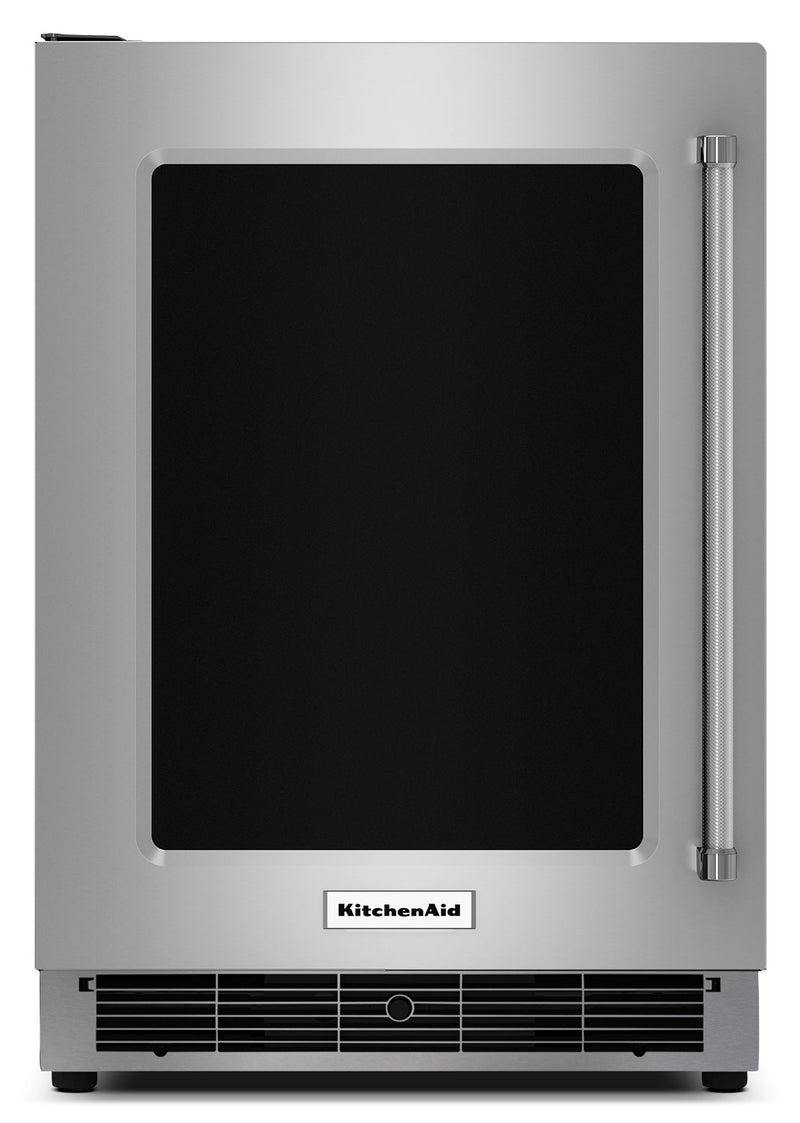 KitchenAid 5.1 Cu. Ft. Undercounter Refrigerator with Left-Door Swing – KURL304ESS - Refrigerator in Stainless Steel