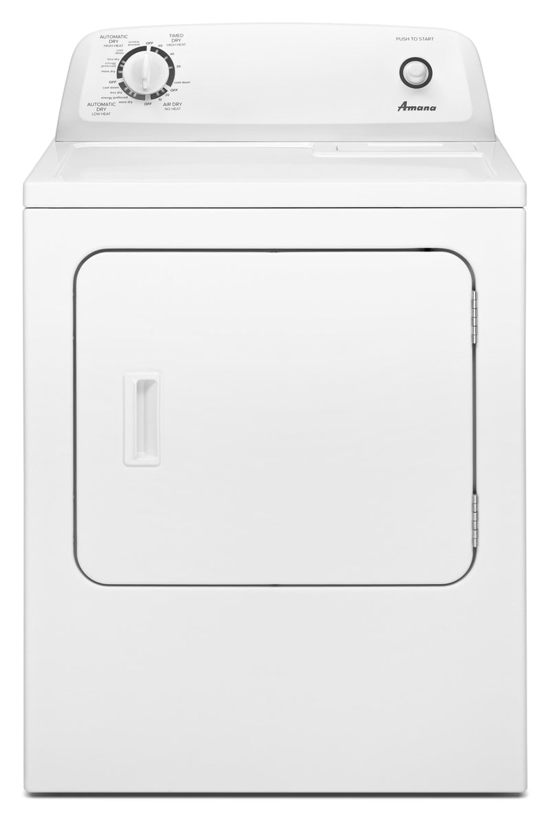 Amana 6.5 Cu. Ft. Electric Dryer with Automatic Dryness Control – YNED4655EW|Sécheuse électrique Amana de 6,5 pi3 avec commande de séchage automatique - YNED4655EW