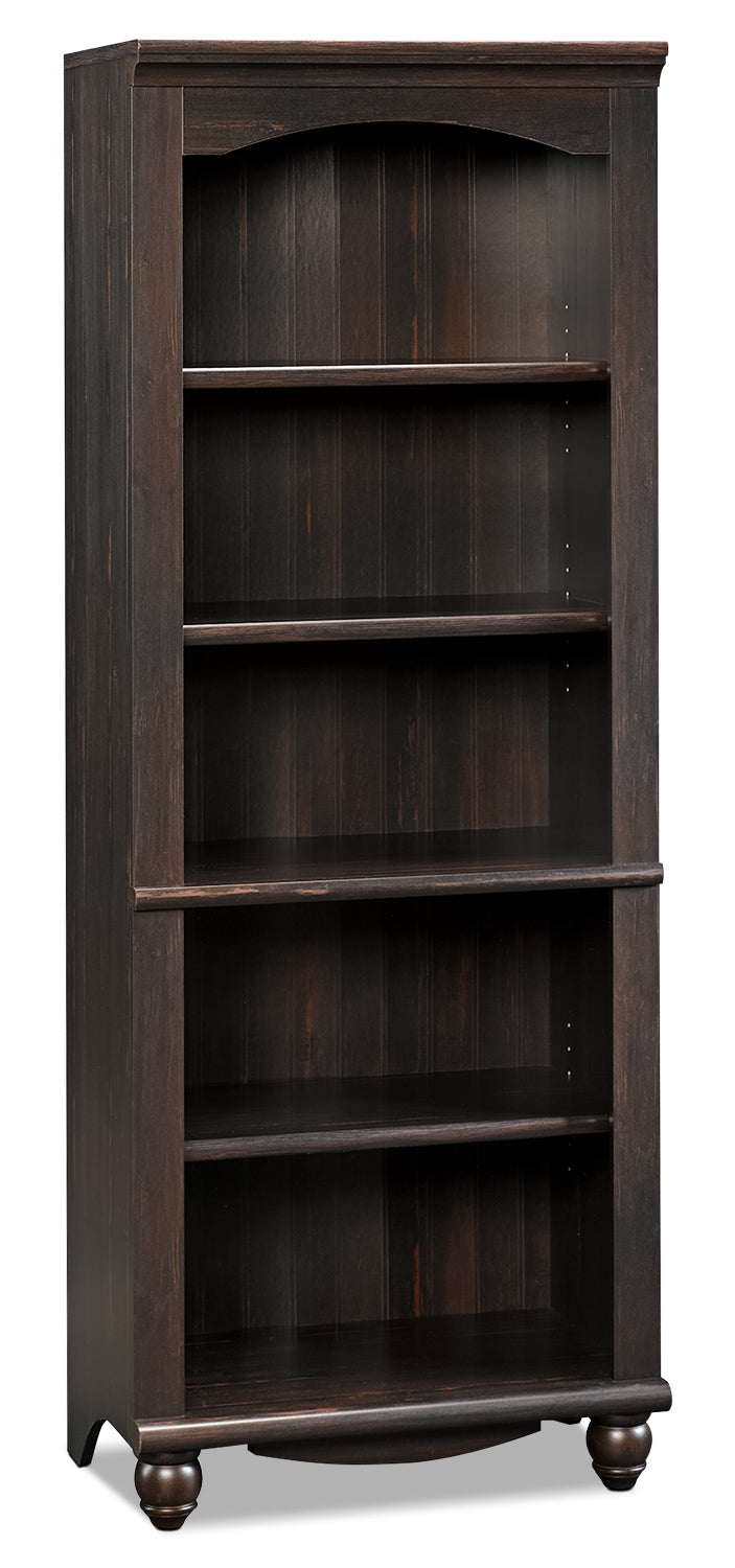 Harbor View Bookcase – Antiqued Paint - Country style Bookcase in Dark Brown Wood