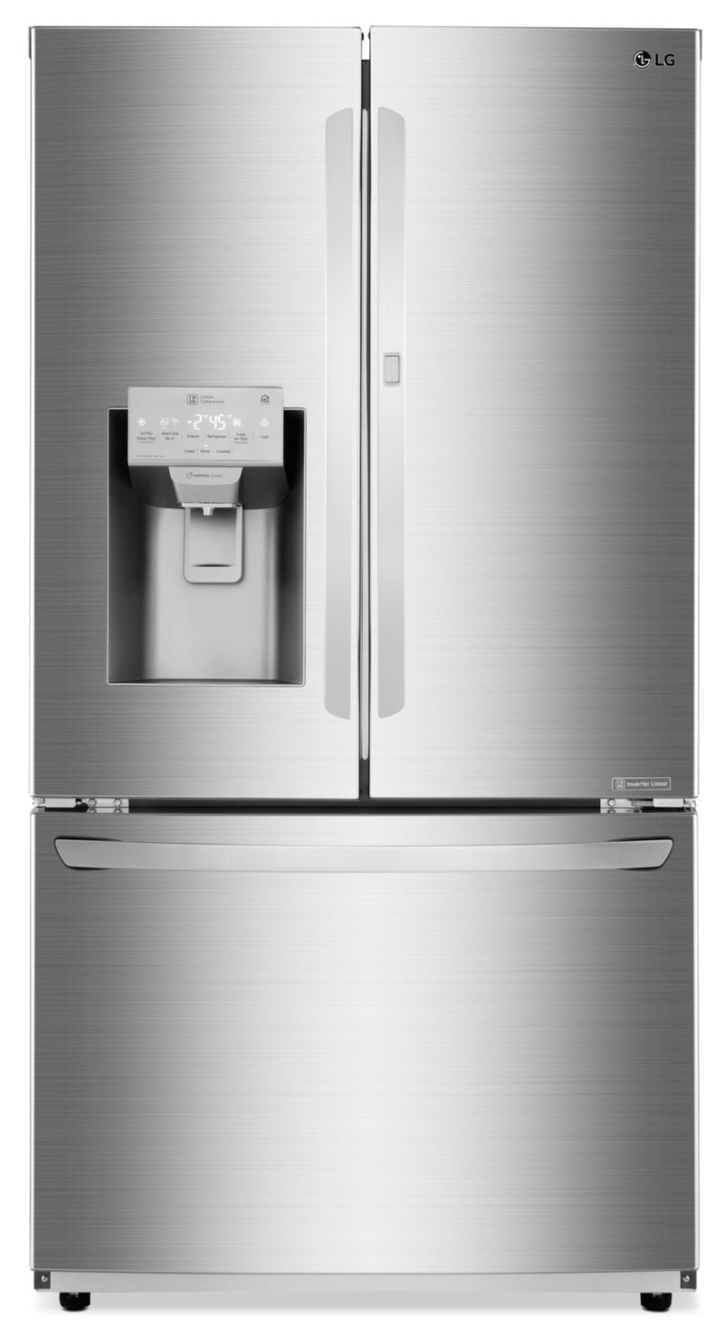 LG 28 Cu. Ft. 3-Door French-Door Refrigerator with Door-in-Door® – LFXS28566S|Réfrigérateur LG de 28 pi³ avec porte dans la porte – LFXS28566S