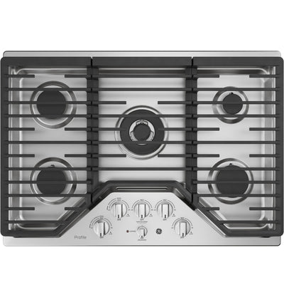 "GE Profile™ Series 30"" Built-In Gas Cooktop – PGP9030SLSS - Gas Cooktop in Stainless Steel"