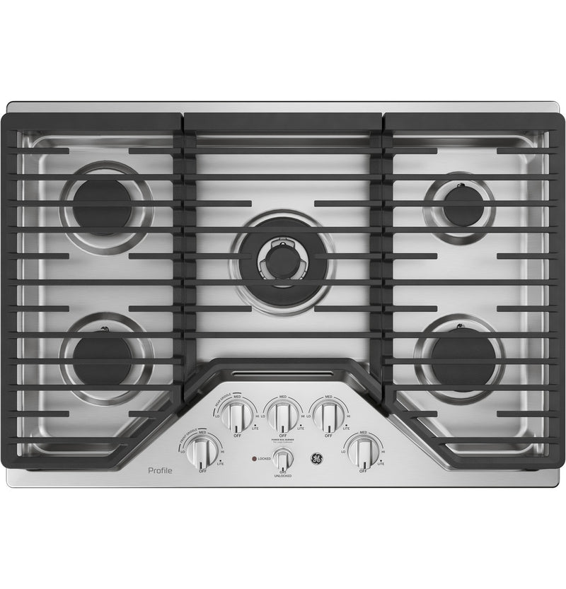 "GE Profile™ Series 30"" Built-In Gas Cooktop – PGP9030SLSS