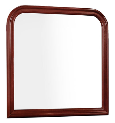 Lyla Mirror – Cherry - Traditional style Mirror in Cherry Rubberwood Solids and Okoume Veneers