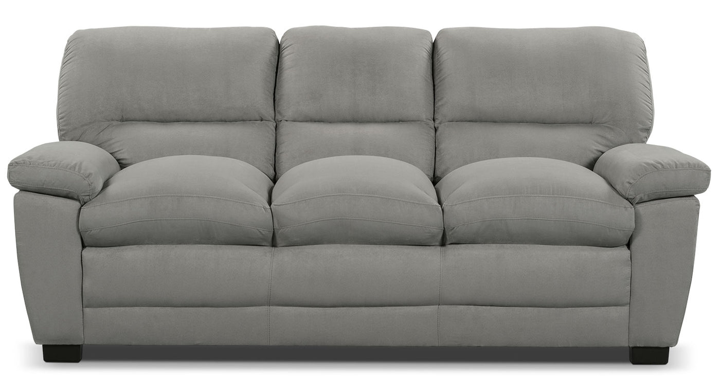 Stupendous Peyton Microsuede Sofa Grey Home Interior And Landscaping Ologienasavecom