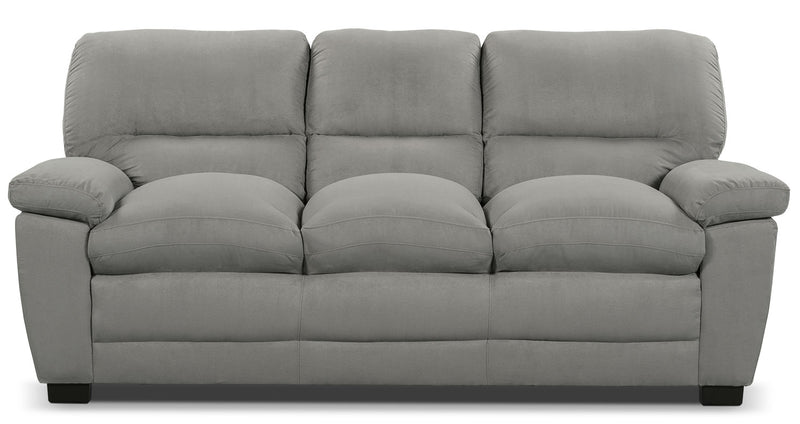 Peyton Microsuede Sofa - Grey - Contemporary style Sofa in Grey