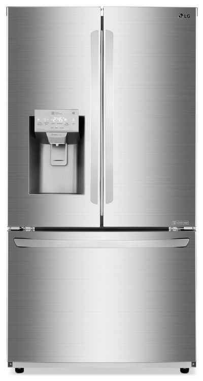 LG 28 Cu. Ft. 3-Door French-Door Refrigerator – LFXS28968S - Refrigerator in Stainless Steel