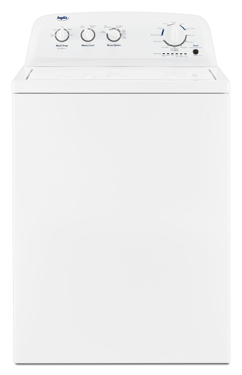 Inglis 4.4 Cu. Ft. High-Efficiency Top-Load Washer - ITW4880HW|Laveuse haute efficacité Inglis à chargement par le haut de 4,4 pi³ - ITW4880HW|ITW4880H