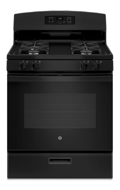GE 5.0 Cu. Ft. Freestanding Gas Range – JCGBS60DEKBB - Gas Range in Black