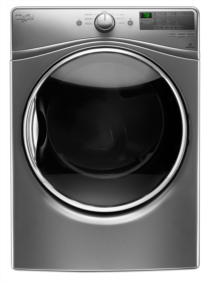Whirlpool 7.4 Cu. Ft. Electric Dryer – YWED85HEFC - Dryer with Steam in Chrome Shadow