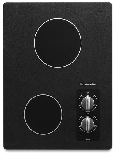 KitchenAid 15'' Electric Cooktop – KECC056RBL - Electric Cooktop in Black