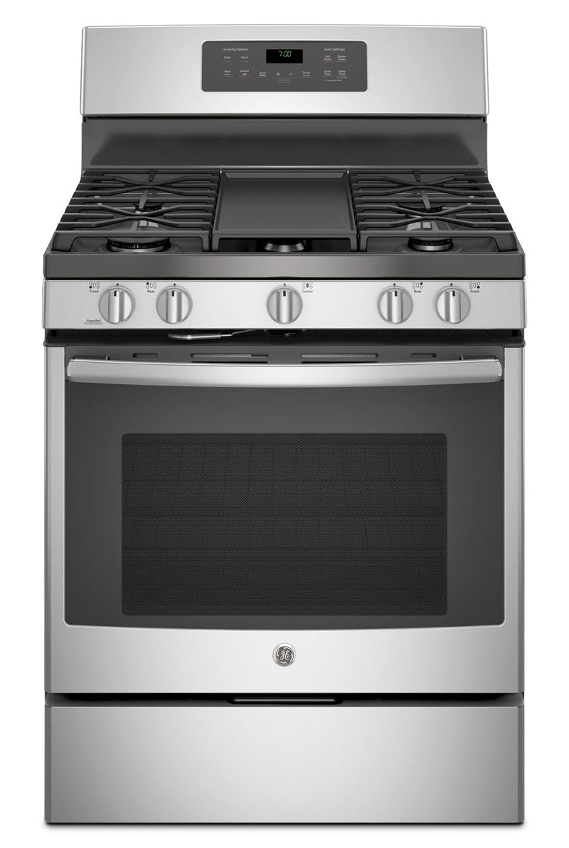 GE 5.0 Cu. Ft. Freestanding Convection Gas Range with Self Clean - JCGB700SEJSS|Cuisinière à gaz amovible GE de 5,0 pi³ - JCGB700SEJSS|JCGB700S