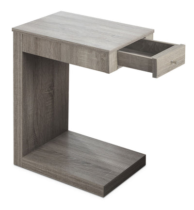 Hampshire Accent Table – Taupe - Modern style End Table in Taupe Wood