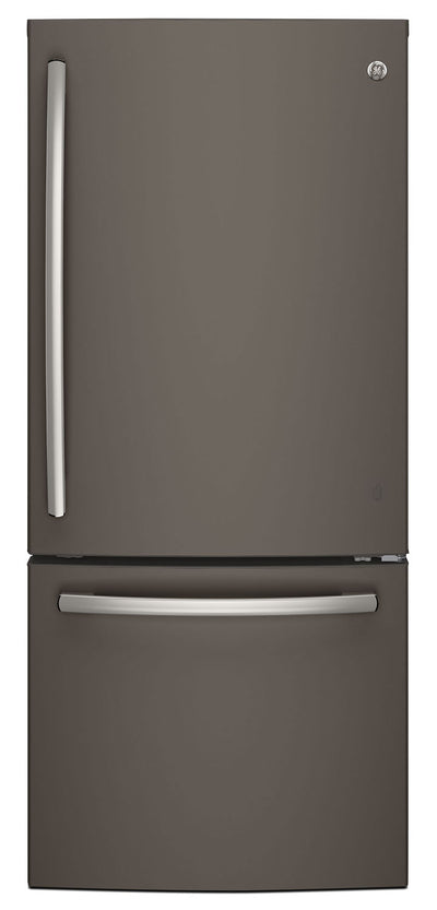 GE 20.9 Cu. Ft. Bottom-Mount Refrigerator – GDE21DMKES - Refrigerator in Slate