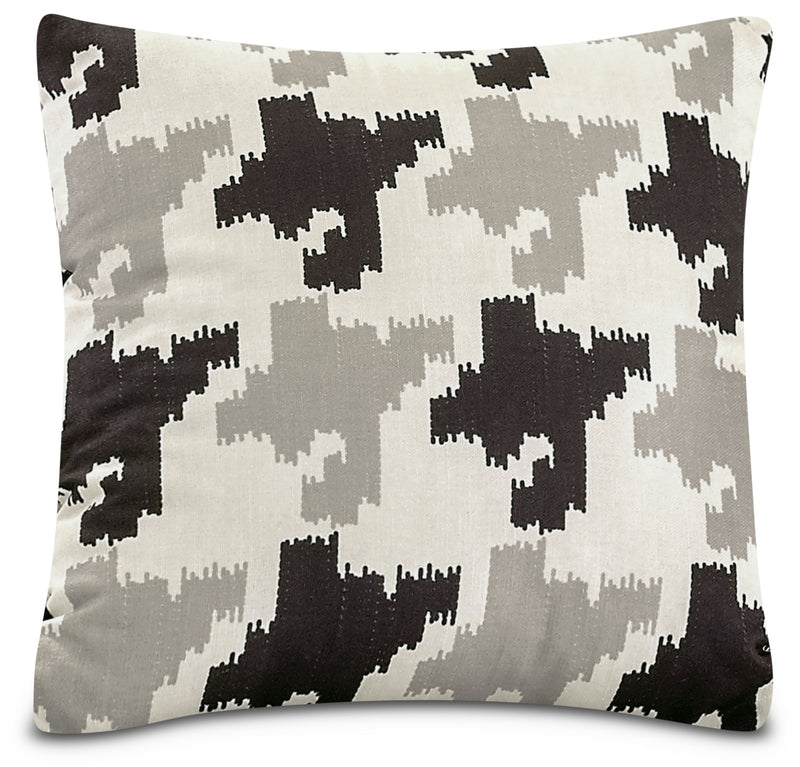 Houndstooth Accent Pillow – White, Black and Grey|Coussin décoratif pied-de-poule - blanc, noir et gris
