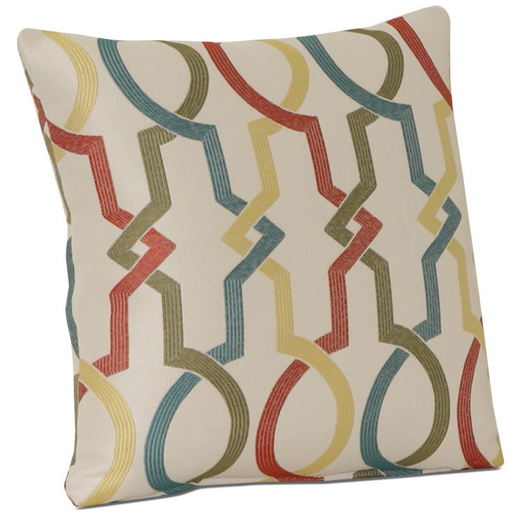 "Rainbow 18"" Fabric Accent Pillow