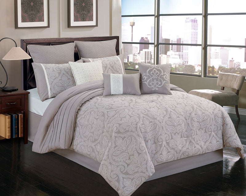 Worthington 9-Piece Queen Comforter Set|Ensemble d'édredon Worthington 9 pièces pour grand lit|WORTH9QU