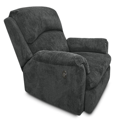 Baron Chenille Power Reclining Chair – Grey - Contemporary style Chair in Grey