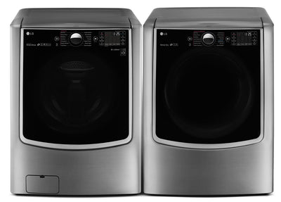 LG 6.0 Cu. Ft. Front-Load Steam Washer and 9.0 Cu. Ft. Electric Dryer – Graphite Steel - Laundry Set in Graphite