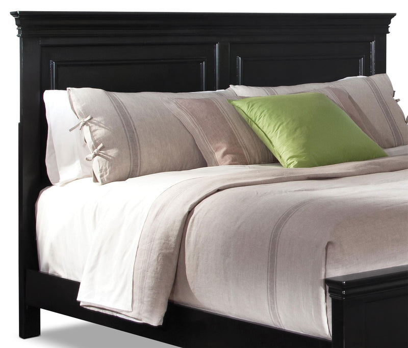 Bridgeport Queen Panel Headboard - Black|Tête de lit à panneaux Bridgeport pour grand lit - noir