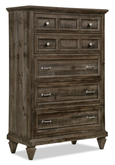 Calistoga Chest - Weathered Charcoal - Rustic style Chest in Charcoal Pine Solids