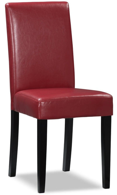 Chelsea Faux Leather Accent Dining Chair – Red|Chaise de salle à manger Chelsea en similicuir – rouge|DY6561RC