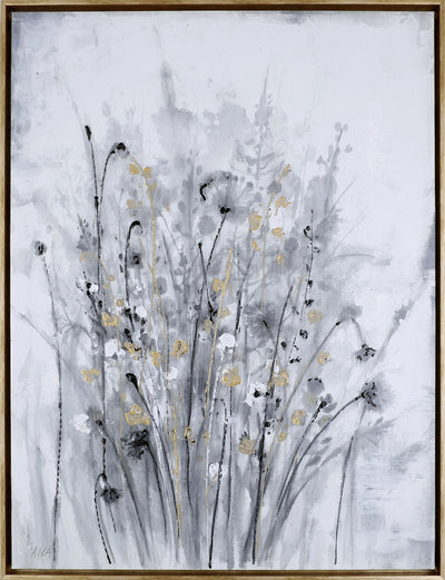 "Golden Floral I – 31.5"" x 41.5""