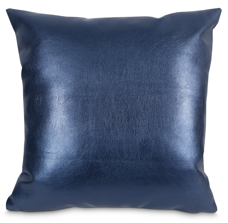 Metallika Accent Pillow – Blue|Coussin décoratif Metallika - bleu