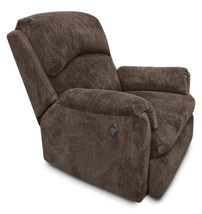 Baron Chenille Power Reclining Chair – Brown - Contemporary style Chair in Brown