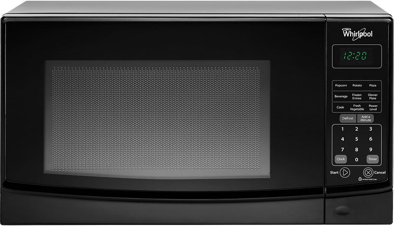 Whirlpool 0.7 Cu. Ft. Countertop Microwave with Electronic Touch Controls - Black|Four à micro-ondes de comptoir Whirlpool de 0,7 pi³ avec commandes électroniques tactiles - noi|WMC10007B