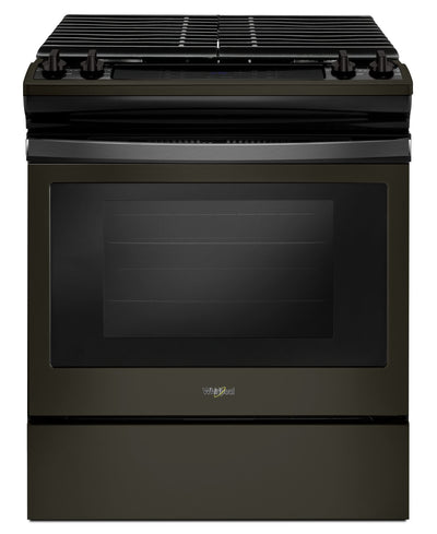 Whirlpool 5.0 Cu. Ft. Gas Range with Cast-Iron Grates - WEG515S0FV - Gas Range in Black Stainless Steel