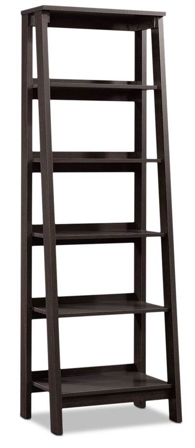 Stockbridge Bookcase with Five Shelves – Jamocha Wood - Contemporary style Bookcase in Jamocha
