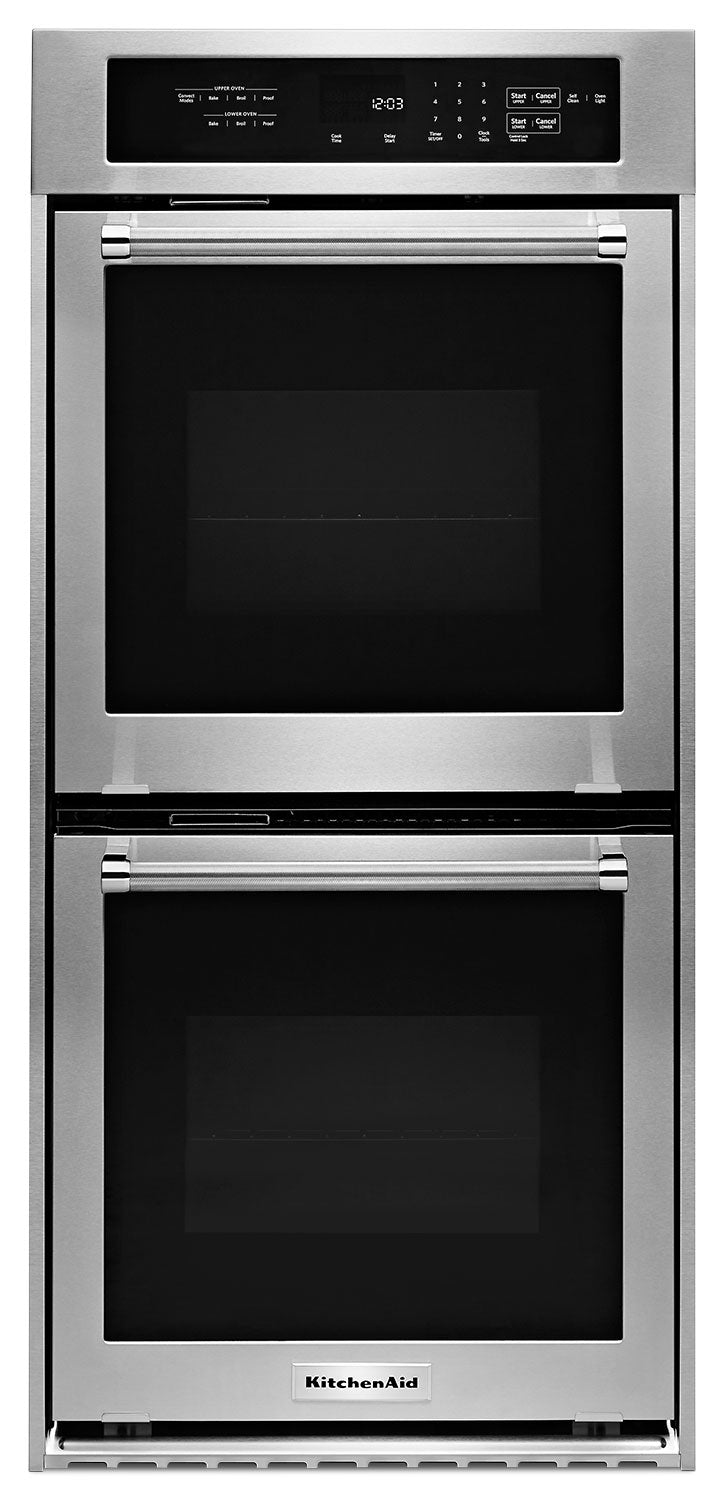 KitchenAid 6.2 Cu. Ft. Double Wall Oven – KODC304ESS|Four encastré double KitchenAid de 6.2 pi3 - KODC304ESS